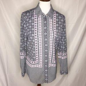 Talbots Women's Button Down Shirt, Size Medium